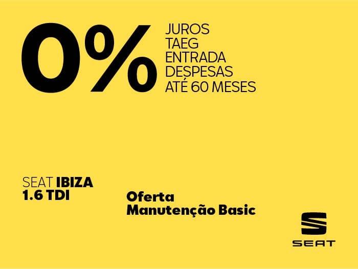 Oferta SEAT Ibiza 1.6 TDI na Caetano Active